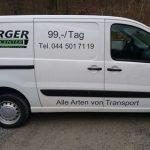 Lieferwagen Beschriftung von Swisswrapstyle